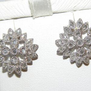 Art Deco Diamond (N)* Milgrain Studs 14KWG 1.00 ctw
